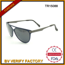 New Tr90 Sunglasses with Metal Temples, Polarized Lenses